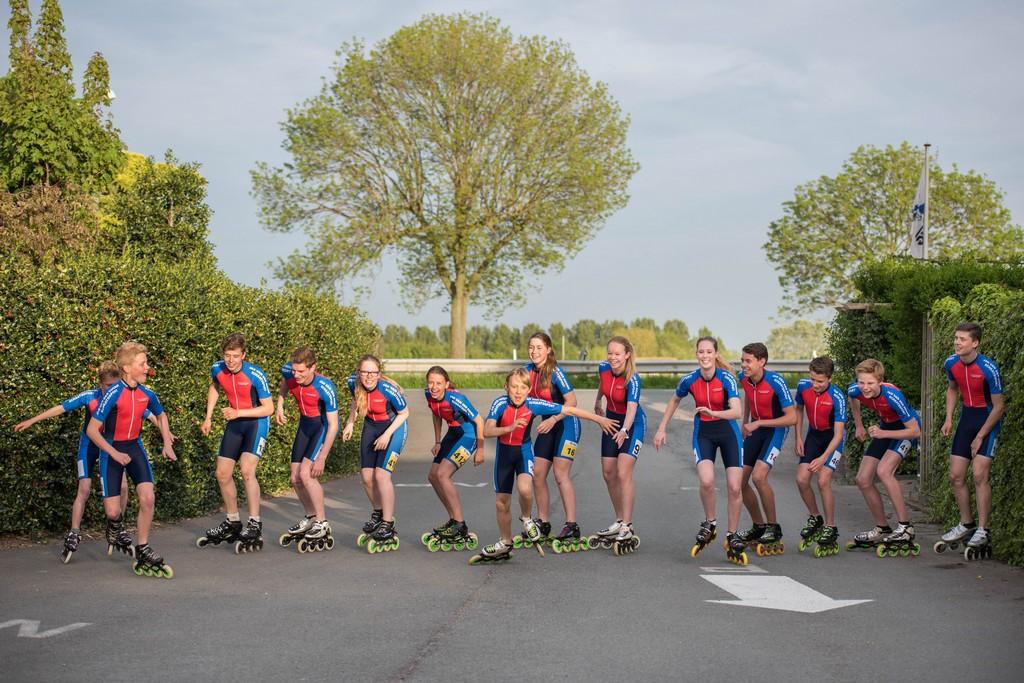 Jan van der Hoorn wedstrijdteam photoshoot