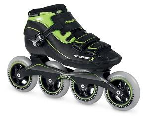 Powerslide X-skate zwart/groen