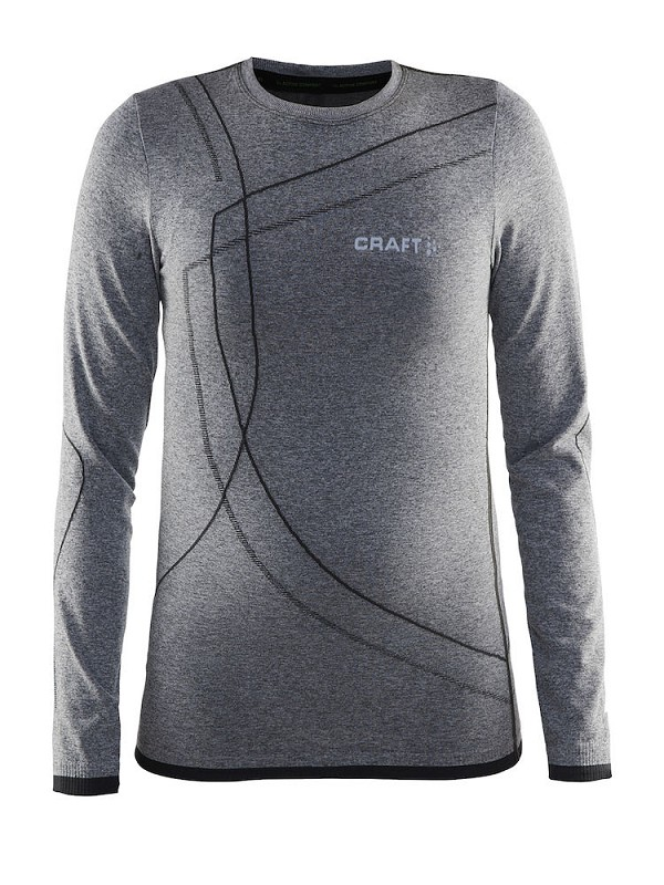 Craft active Comfort Jr. rn ls gemeleerd 134/140