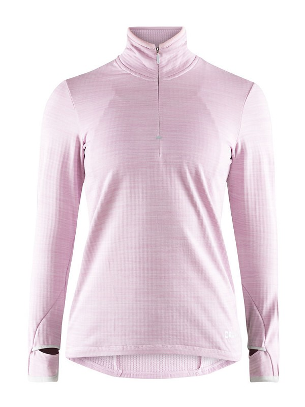 Craft 2nd layer W Grid halfzip l. roze