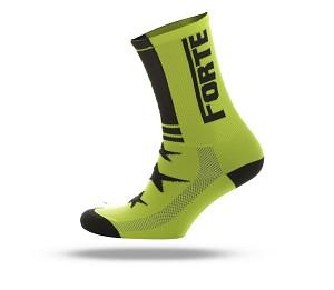 Forte fiets sokken fluor geel