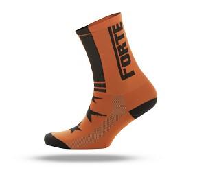 Forte fiets sokken fluor oranje