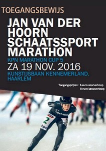 Jan van der Hoorn marathon kaartje