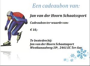 Jan van der Hoorn schaatssport cadeaubon